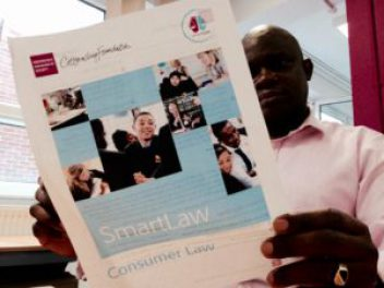 man reading a smartlaw document